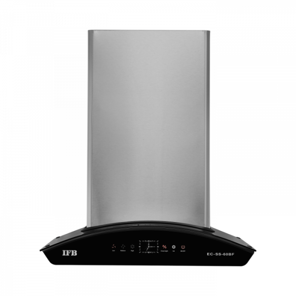 EC-SS-60BF - HR AUTO CLEAN CURVED GLASS (2 BAFFLE FILTER) TOUCH - CHIMNEY - IFB