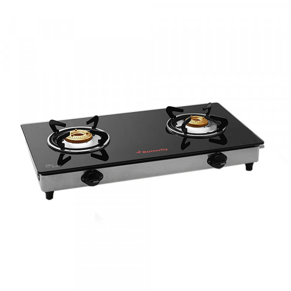 DUO 2B GLASS TOP STOVE - GAS STOVE - BUTTERFLY