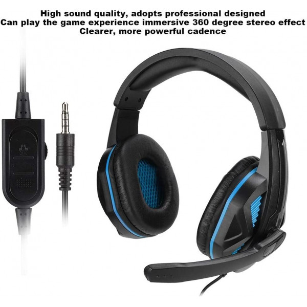 GJBY SEZ-881 Lightweight Noise Reduction E-Sport Headset with Mic and 3.5mm